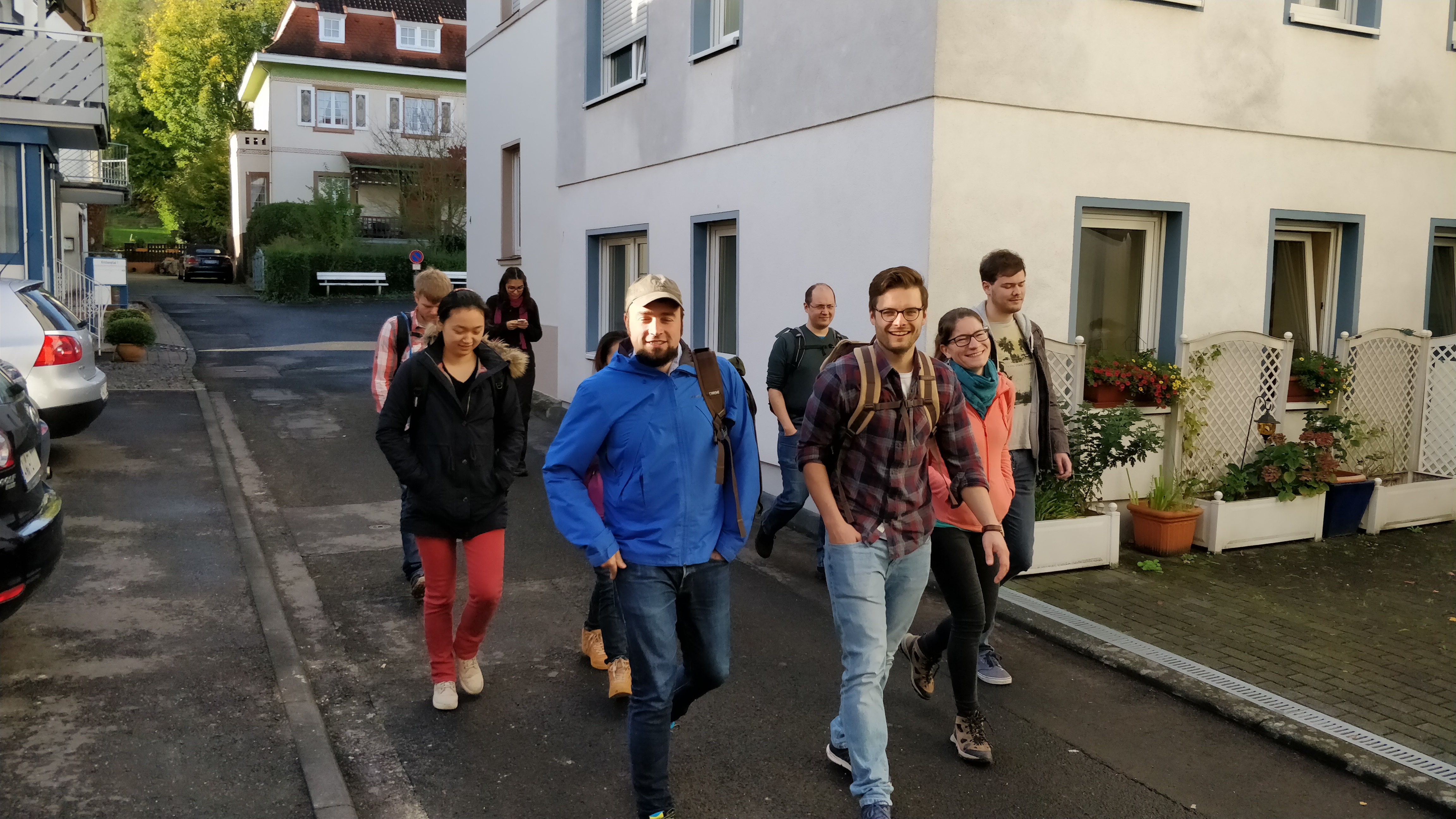 Leaving for a hike from Bad Neuenahr